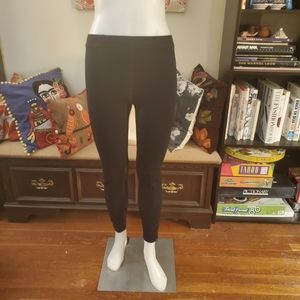 Madewell Leggings with Faux Leather and Zippers